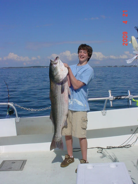 Monster Striped Bass on Maryland's Chesapeake Bay!!
